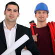 Architect and plumber — Stock Photo