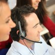 Phone operator in office - Stockfoto