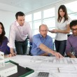 Group of architects working — Stock Photo