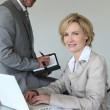 Executives making an appointment — Stock Photo