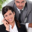 Smart business couple - Stock Photo