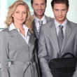 Business colleagues smiling — Stock Photo #7914336