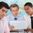 Young businessmen having a meeting — Stock Photo