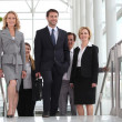 Business colleagues going to meeting — Stock Photo