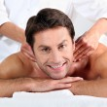 Man enjoying a back massage — Stock Photo #7915506
