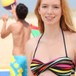 Girl on the beach — Stock Photo #7915839
