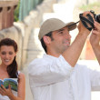 Nice couple on holiday trip. — Stockfoto #7916203