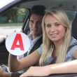 Learner driver — Stock Photo #7916289