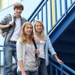 Portrait of students in stairs — Stock Photo #7916304