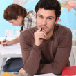 Student studying in the classroom. — Stock Photo #7916369