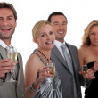 Colleagues drinking champagne — Stock Photo #7916417