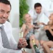 Man drinking champagne — Stock Photo #7916471