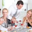Dinner with friends — Stock Photo