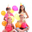 Stock Photo: Kids at a birthday party