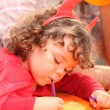 Little girl on her birthday party — Stock Photo