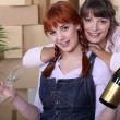 Two friends celebrating new home — Stock Photo #7916898