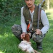 Hunter with his dog — Stock Photo #7917401