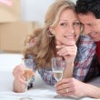 Couple drinking champagne — Stock Photo #7919382