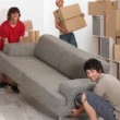 University students moving in together — Stock Photo