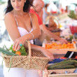 Womshopping at local market — Stock Photo #7919682