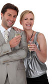 Couple at a party — Stock Photo