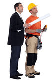 An architect and his electrician. — Stock Photo