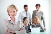 Dynamic business meeting — Stock Photo