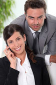 Smart business couple — Stock Photo