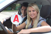 Learner driver — Stock Photo