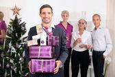 Familie vieren van kerstmis — Stockfoto