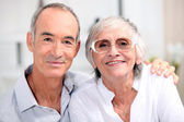 Portrait of an older couple — Stock Photo