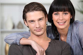 Couple posing for the camera — Stock Photo