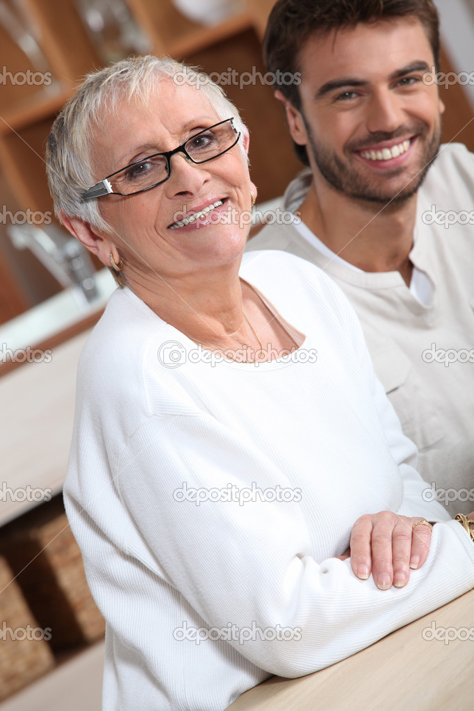 Old lady dating young guy