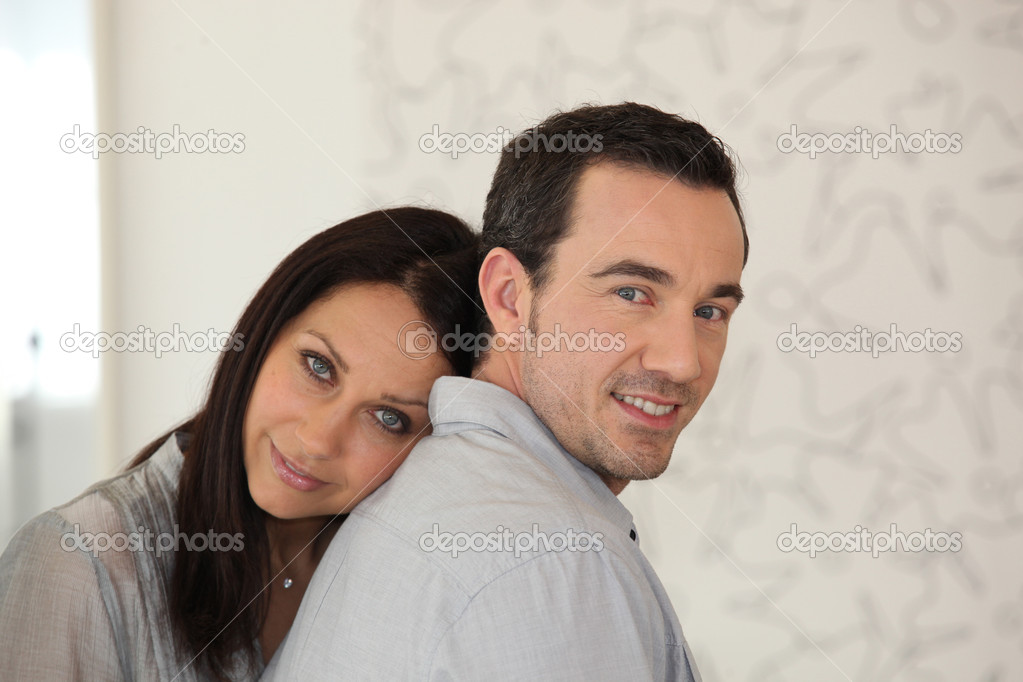 Couple together at home  Stock Photo #7918931