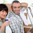Couple moving out. — Stock Photo