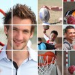 Sport themed collage — Stockfoto