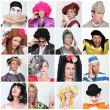 Carnival costumes — Stock Photo
