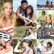 Outdoors activities in summertime — Stock Photo