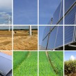 Collage of sustainable energy — Photo