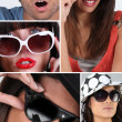 Stock Photo: Wearing sunglasses