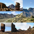 Collage of a dry and rocky landscape - Stock Photo