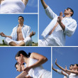 Stock Photo: Doing tai chi