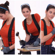Craftswoman working — Stock Photo