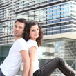 Couple in the city - Foto de Stock