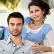Young couple relaxing — Stockfoto