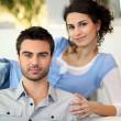 giovane coppia rilassante — Foto Stock