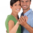 Couple dancing together — Stock Photo