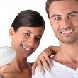 Closeup of smiling couple — Stock Photo #7929500