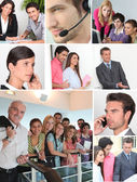 Collage showing office workers — Stock Photo