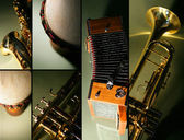 Instrument mosaic — Stock Photo